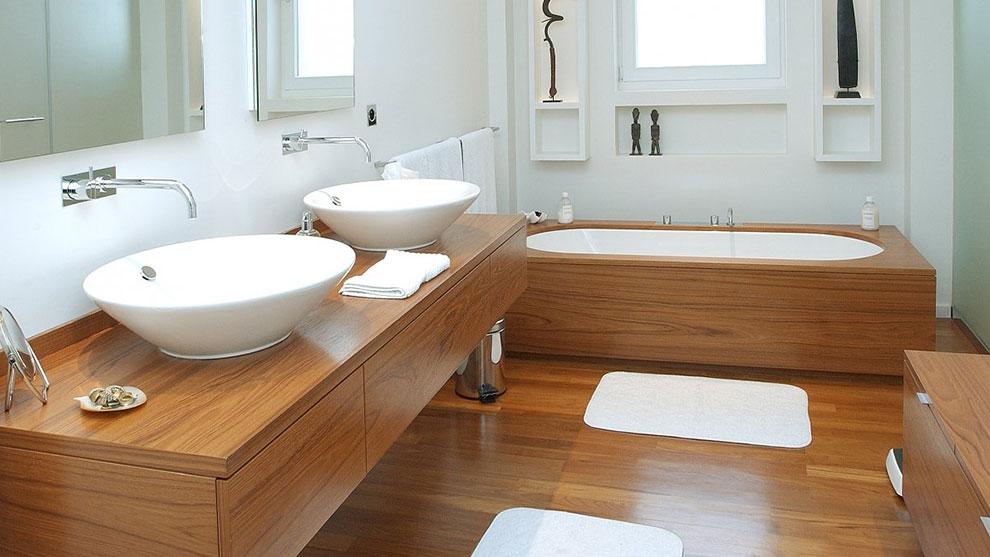 lume reforma integral baño madera