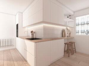 Proyecto de Lume Interiores con encimera de madera